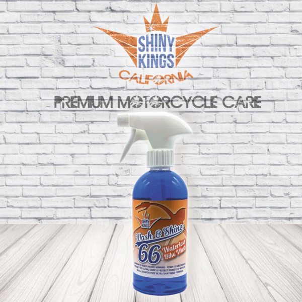 waterless motorcycle wash wash&shine 66 shinykings