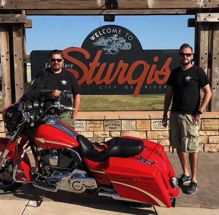 "Athanasios ""Aki"" Vamparis, Werner Schmid founders of Shinykings @ sturgis"