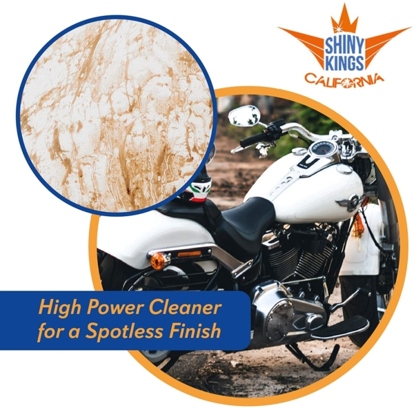 waterless motorcycle cleaner Wash&Shine 66 waterless bike wash 16.9 fl oz All in One All surfaces wash and wax quick detailer